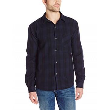 VELVET BY GRAHAM & SPENCER Men's Nash Check Shirt, Midnight, Medium