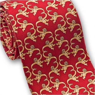 Josh Bach Men's Barrel of Monkeys Silk Necktie Red, Made in USA