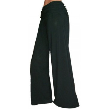 Funfash Gaucho Flare Long Black Palazzo Pants New Women's Pants Size Large 9 11