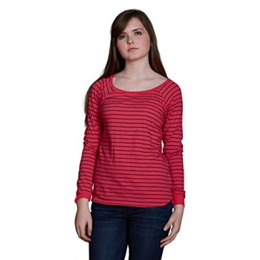 Velvet by Graham and Spencer Lele Vintage Stripe Cotton Long Sleeve Tee, Fruity, XS