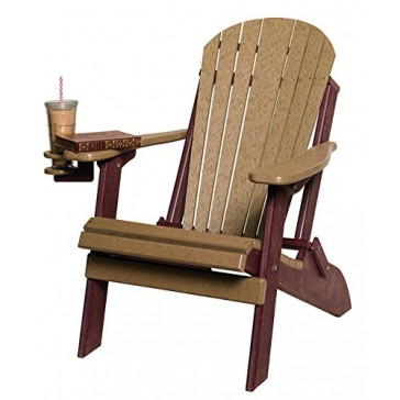Poly Lumber Folding Adirondack Chair in Cedar & Brown - Amish Made in USA