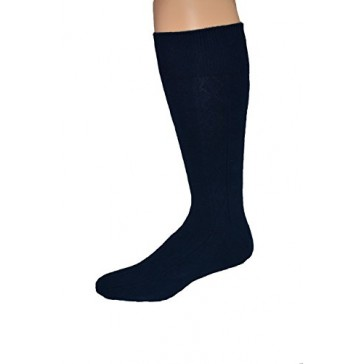 Men's Premium Big and Tall Combed Cotton Navy Dress Sock - 2pr Pack - Made in USA