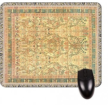 Antique Style Tabriz Persian Rug Print Design TM -Square Mouse pad - Stylish, Durable Office Accessory and Gift Made in the USA