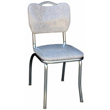 """Budget Bar Stools 4161CIG Cracked Ice """"Clam"""" Back Chair with Handle, Steel, 15.25"""" L x 15.25"""" W x 31"""" H, Grey"""