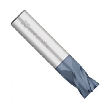 "Kodiak Cutting Tools KCT131558 USA Made  Solid Premium Carbide End Mill, ALTiN Coated, 4 Flute, 1/4"" Diameter"
