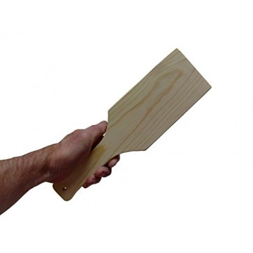 LeafTechUSA Unfinished Wood Paddle, 12 Inches, Unfinished and Sanded Smooth, Handcrafted in the USA!