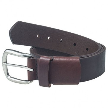Working Person's 18222E Elastic Stretch Brown Leather Belt - Made In The USA (34)