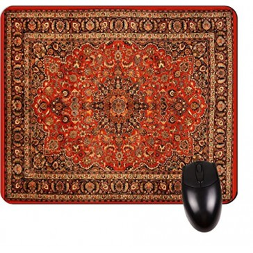 Oriental Rug Print Design TM -Square Mouse pad - Stylish, Durable Office Accessory and Gift Made in the USA