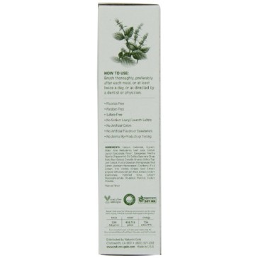 Nature's Gate Natural Toothpaste, Creme de Peppermint, 6-Ounce Tubes (Pack of 6)