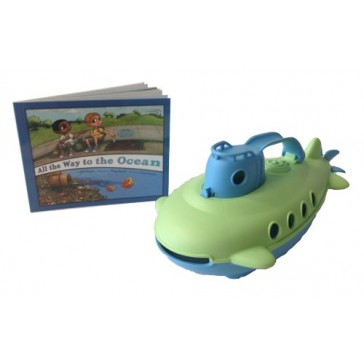 Green Toys Submarine Safe Seas Set, Green/Blue