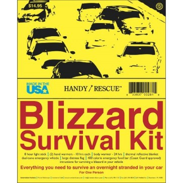 Innovation Factory Handy/Rescue Blizzard Survival Kit, Made in USA