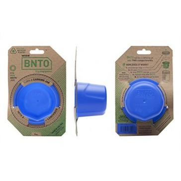 Cuppow BNTO Canning Jar Lunchbox Adaptor - Wide Mouth - 6oz - Denim