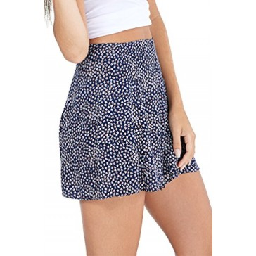 Women's Fashion Blue Stars 4th July Flowwy High Waist Short USA PS7 XS