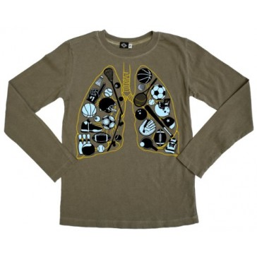 Hank Player 'Breathe Sports' Long Sleeve Boy's T-Shirt (4T, Vintage Army)
