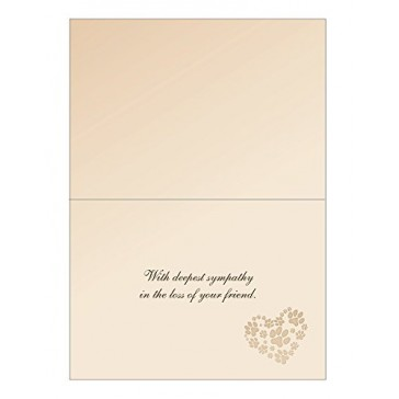 Fetching Expressions Pet Sympathy Card with Laminated Keepsake Memorial Card