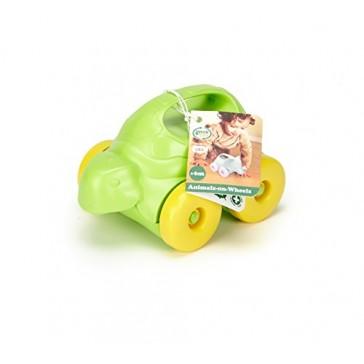 Green Toys Turtle-on-Wheels, Green/Yellow
