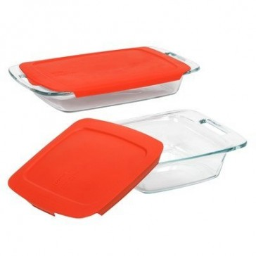 Pyrex Easy Grab 4-Piece Glass Bakeware Set