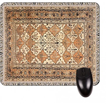 Antique Style Persian Tabriz Rug Print Design TM -Square Mouse pad - Stylish, Durable Office Accessory and Gift Made in the USA