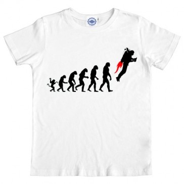 Hank Player 'Science Evolution' Boy's T-Shirt (L/8, White)
