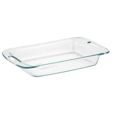 Pyrex Easy Grab 3-Quart Oblong Glass Bakeware Dish
