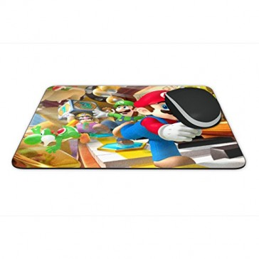 """Mouse Pad - Super Mario Theme Full Color Anti-Slip Rubber Backed Mousepad """"Made in USA"""""""