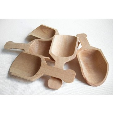 MyCraftSupplies Unfinished Wood Scoops 4 1/4 Inch Set of 5 Made in the USA