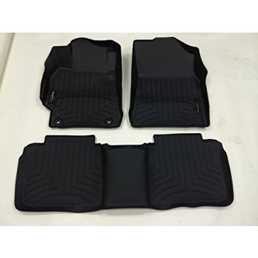 2015-2016 Toyota Camry-Weathertech Floor Liners-Full Set (Includes 1st and 2nd Row) Black