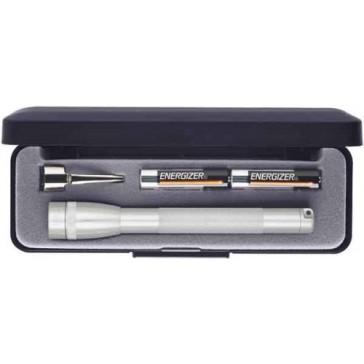 Maglite Mini Incandescent 2-Cell AAA Flashlight in Presentation Box, Silver
