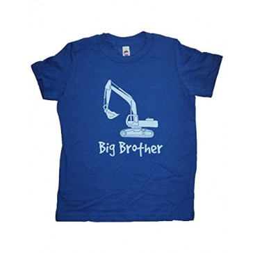 Boys Digger Big Brother Shirt 5-6 Blue by Sunshine Mountain Tees