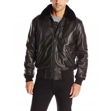 Cockpit USA Men's B-15 Cowhide Leather Jacket, Black, X-Large