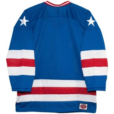 USA 1980 Olympic Miracle on Ice Away Blue Hockey Jersey (Small)