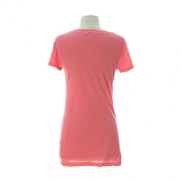 VELVET by Graham & Spencer Women's Solid Short Sleeve T-Shirt Small Flirt