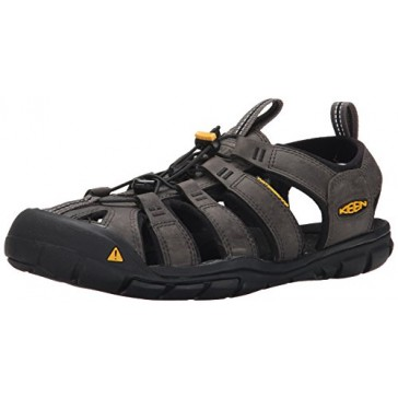 KEEN Men's Clearwater Cnx Leather Water Sandal, Magnet/Black, 7 M US