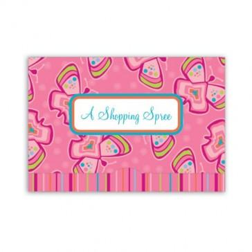 Jillson Roberts Gift Card Holders, Shopping Spree, Pink Butterflies, 6-Count (GCP010)