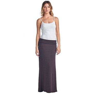 Popana Super Soft Maxi Skirt Small in Brown - Made In USA