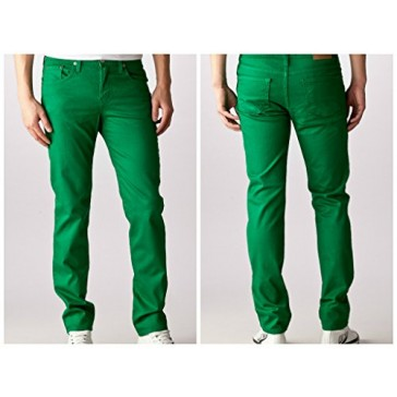 Kelly Green Skinny Jeans Men's Made in USA Premium 98% Cotton 2% Spandex (28x30)