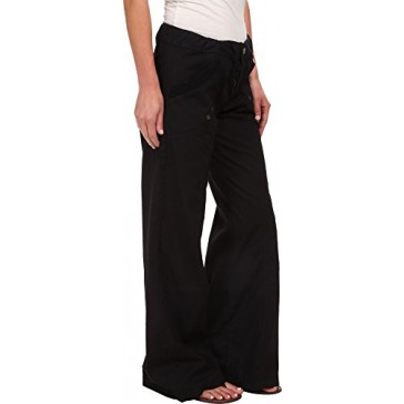 XCVI Women's Yosemite Wide Leg Pant Black Pants MD (Women's 8-10) X 31