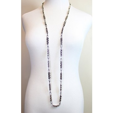 SG Liquid Metal by Sergio Gutierrez - Antique Silver Long Necklace with SG pouch & cleaning cloth CH1-AS