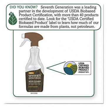 Seventh Generation Wood Cleaner, 18 Fluid Ounce