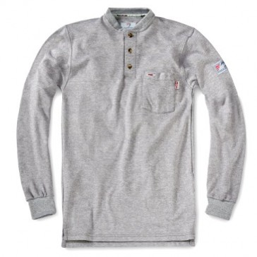 Tyndale Men's FRC FRMC Classic Henley SMALL Gray