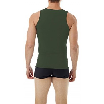Underworks Mens Microfiber Compression Tank, Xsmall, Army Green