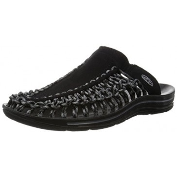 KEEN Men's UNEEK Slide Sandal, Black/Gargoyle, 7 M US