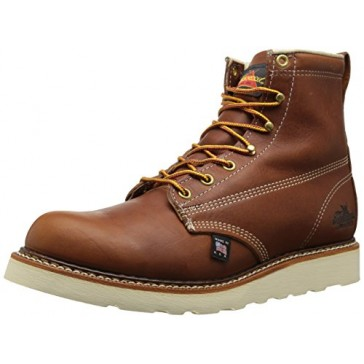 "Thorogood American Heritage 6"" Plain-Toe Boot, Tobacco Gladiator, 7 D US"