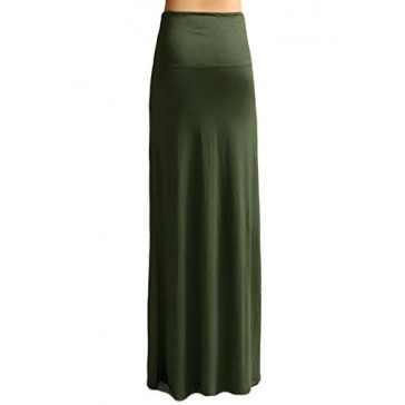 Army Green Long Skirt, Womens Maxi Skirts Green Long Maxi Skirt for Women - USA, Army Green, Small