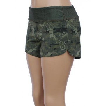 UN92 WC14 Women's Tactical Camo Fit Shorts, Digi Olive-2