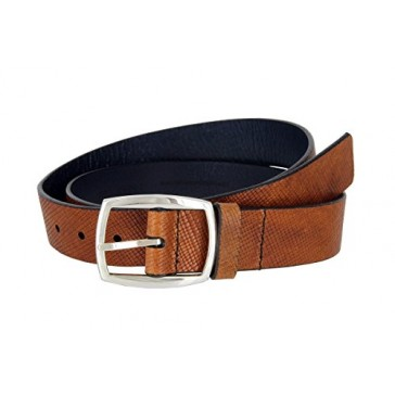 Lejon Men's Italian Tan Leather Casual Jean Belt Made in USA (Tan, 32)