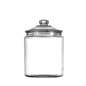 Anchor Hocking Glass Heritage Hill Jar with Glass Lid, 1/2-Gallon