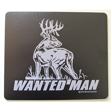 "WANTED MAN Whitetail Deer Mouse Pad - King's Hunting Large ""Made in the USA"""