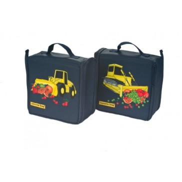 Constructive Eating - COMBO - Construction Transforming Lunch Tote, Plate, and Utensil Set
