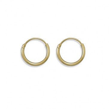 Endless Hoops 1x13mm Small Hoop Earrings 12k Yellow Gold-filled, Made in the USA